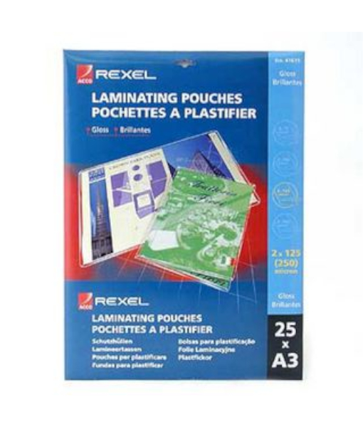 GBC A3 Laminating Pouches 150micron x 25 sheets