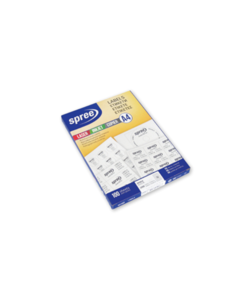 Laser Labels 100 sheets box, 210 x 297 – Spree