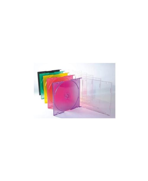 LS CD Jewel Case Slim Mixed Colours Pack X 10